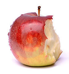 apple with bite out of it