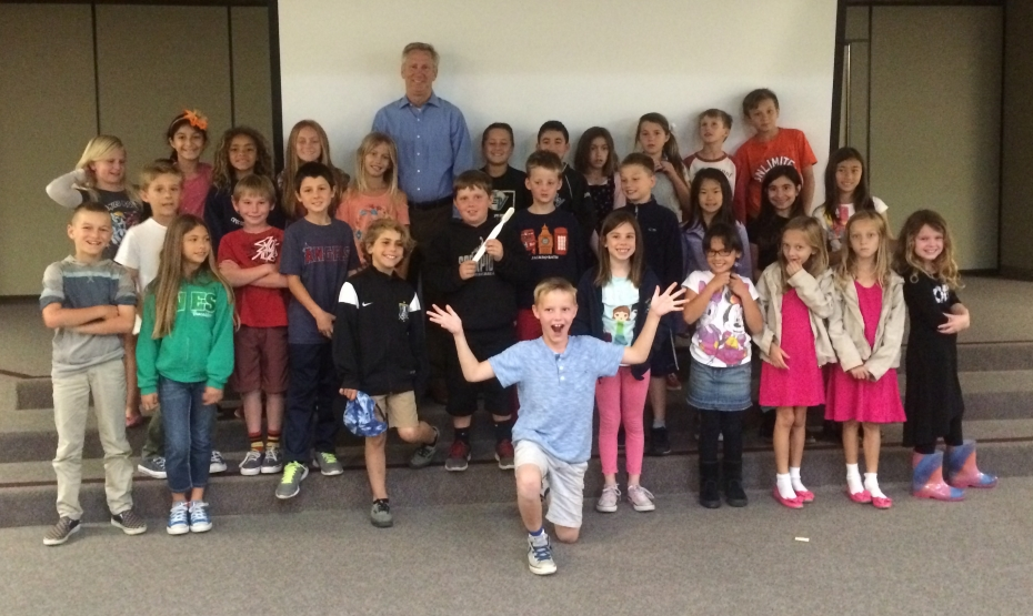 Dr. turner visits canyon vista elementary