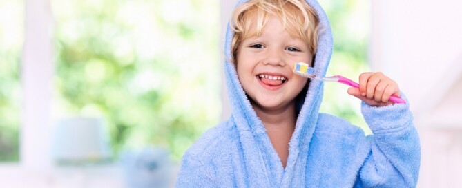 little boy and his toothbrush